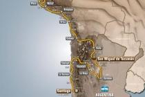 Mapa Rajdu Dakar 2013